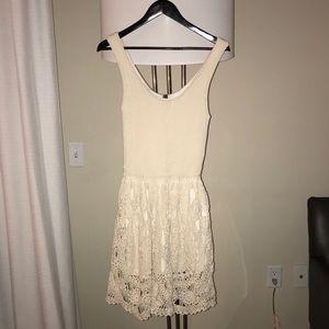 Stetson Knit Tank Dress with Crochet Skirt